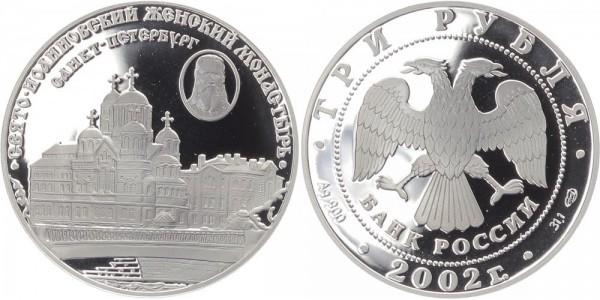 Russland 3 Rubel 2002 - Frauenkloster St. Johannes