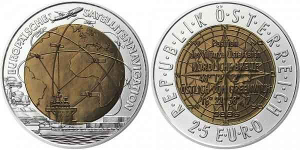 Österreich 25 EUR 2006 - Europäische Satelitennavigation