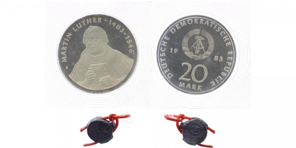DDR 20 Mark 1983 - Martin Luther