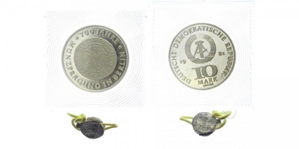 DDR 10 Mark Probe - 700 Jahre Münzprägung