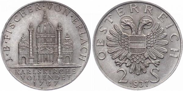 Österreich 2 Schilling 1937 - Karlskirche