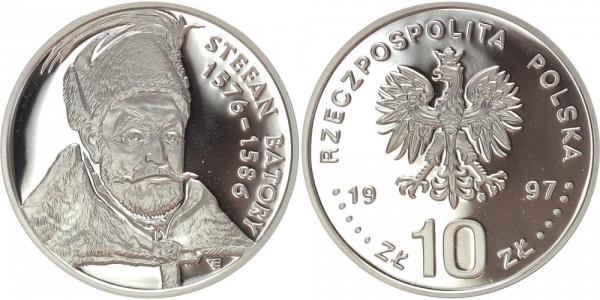 Polen 10 Zloty 1997 - Brustbild Stefan Batory