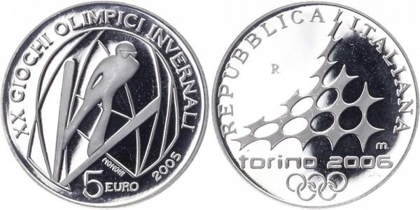 Italien 5 Euro 2005 - Skispringen