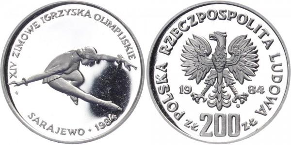 Polen 200 Zlotych 1984 - Olympische Winterspiele