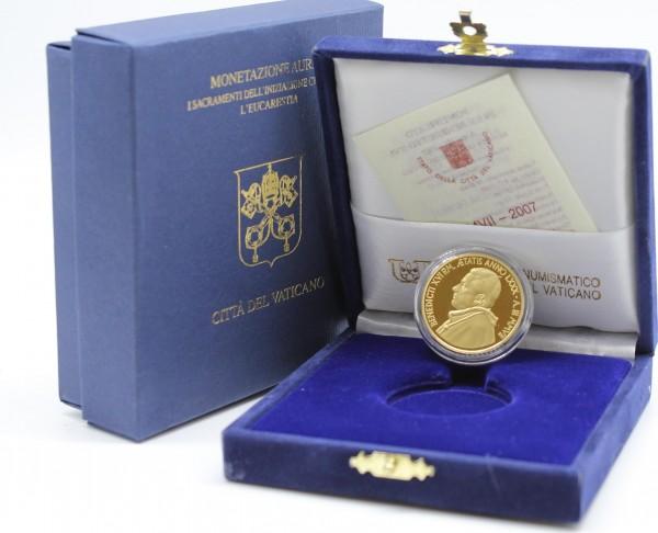 Vatikan 50 Euro 2007 Die Eucharistie