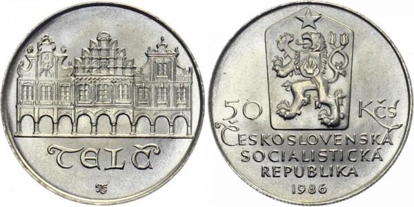 CSSR 50 Kč 1986 - Telc