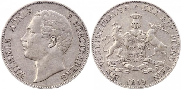 Württemberg Taler 1859 - Wilhelm