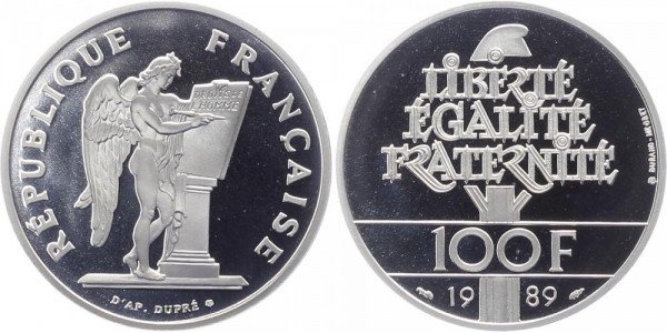 Frankreich 100 Francs 1989 - Menschenrechte