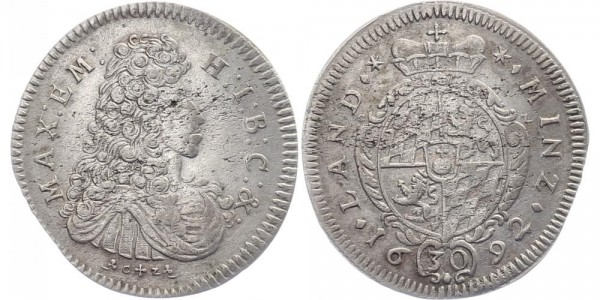 Bayern 30 Kreuzer 1692 - Maximilian II. Emanuel