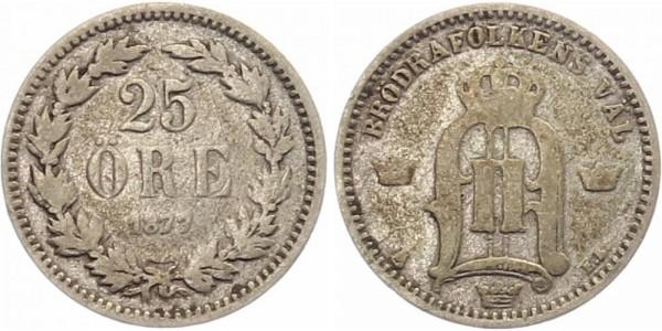 Schweden 25 Öre 1877 - Oskar II.