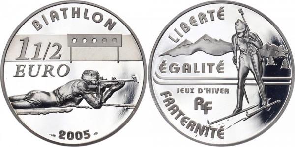 Frankreich 1 1/2 Euro 2005 - Biathlon