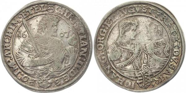 Sachsen 1 Taler 1607 - Christian II., Johann Georg I. und August