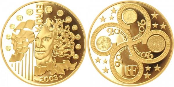 Frankreich 20 Euro 2003 1. Jahrestag Euroeinführung