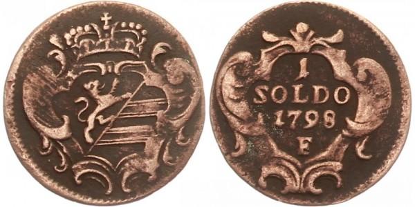 Österreich 1 Soldo 1789 F Kursmünze