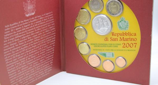San Marino 3,88€ + 5 € 2007 Euro KMS, 5 € Silbermünze