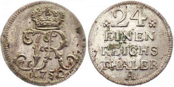 Preussen 1/24 Taler 1752