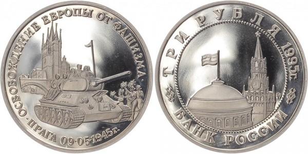 Russland 3 Rubel 1995 - Befreiung von Prag PP