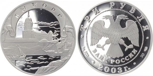 Russland 3 Rubel 2003 - Festung Wyborg