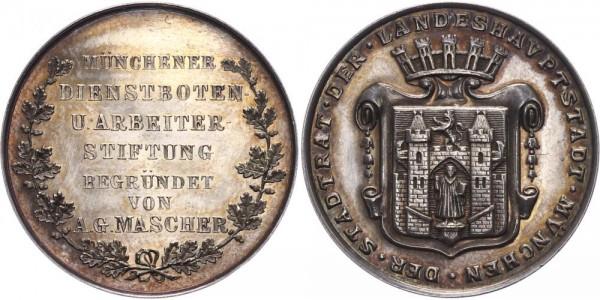 Bayern Medaille o.J. München Münchner Dienstboten- und Arbeiterstiftung