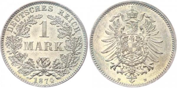 Kaiserreich 1 Mark 1874 D