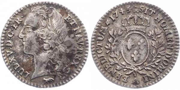 Frankreich 1/10 Ecu 1745 - Ludwig XV.