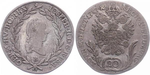 Österreich 20 Kreuzer 1787 B Kursmünze