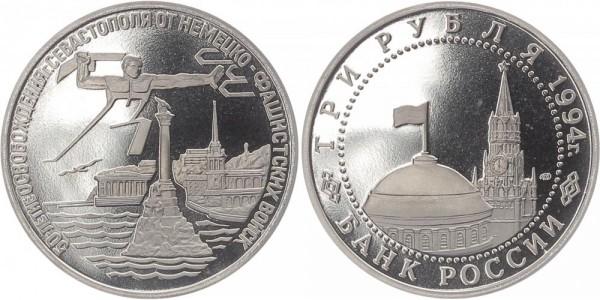 Russland 3 Rubel 1994 - Befreiung Sevastopol