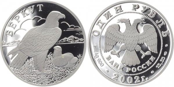 Russland 1 Rubel 2002 - Steinadler