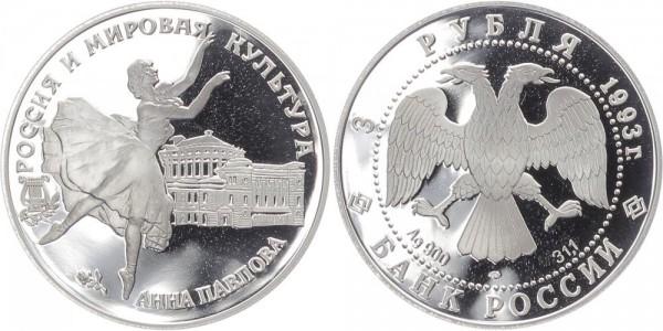 Russland 3 Rubel 1993 - Anna Pavlova