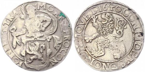 Niederlande-Utrecht Löwentaler 1640 Ritter hinter Löwenwappen