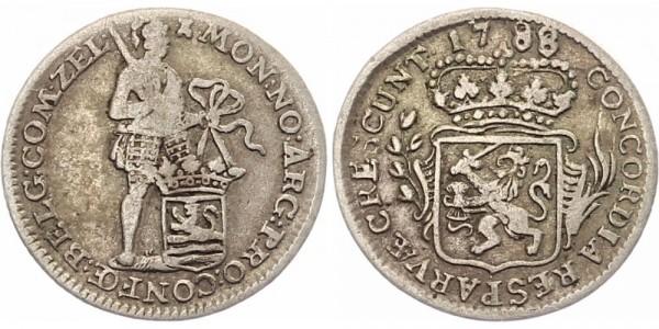 Niederlande 1/8 Silberdukat 1788