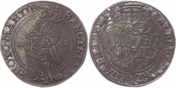 Halberstadt Taler 1542 - Bistum Albrecht II. v. Brandenburg