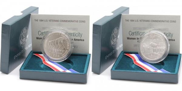 USA 1 Dollar 1994 W Women in Military Service Memorial ( Veteranen ) stgl