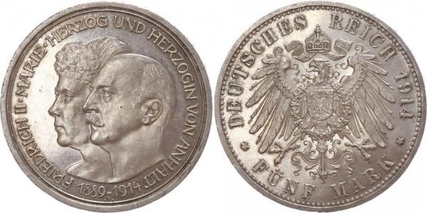 Anhalt 5 Mark 1914 A Silberhochzeit