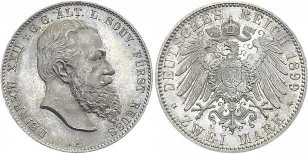 REUSS ÄLTERER LINIE 2 Mark 1899 A Heinrich XXII.