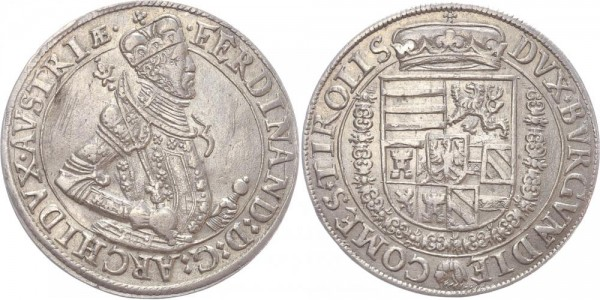 RDR Taler o. J. (1577-1599) Hall, Tirol Erzherzog Ferdinand II.