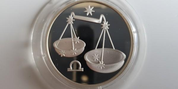 Russland 2 Rubel 2002 Sternzeichen/Tierkreis Waage