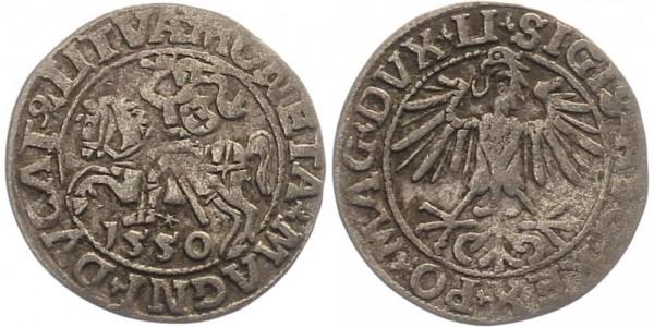 Litauen 1/2 Groschen 1550 - Sigismund August
