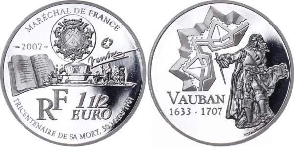 Frankreich 1 1/2 Euro 2007 - Vauban Baumeister