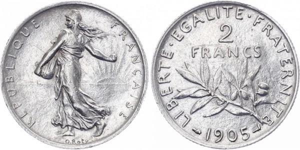 Frankreich 2 Francs 1905 - Kursmünze