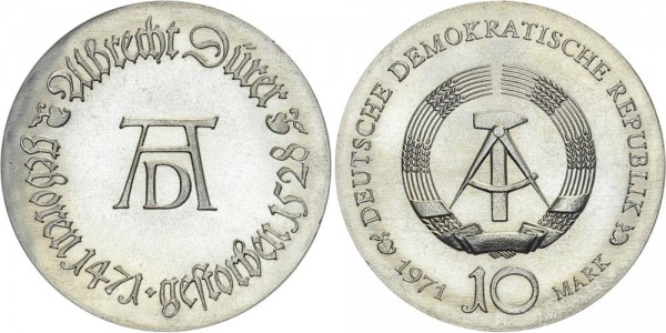 DDR 10 Mark 1971 A Dürer