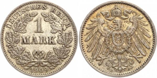 Deutsches Reich 1 Mark 1909 J Großer Adler