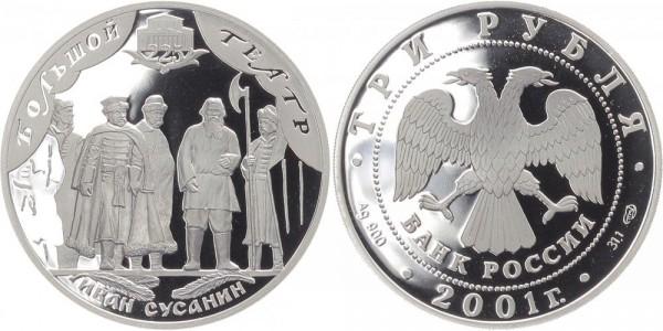 Russland 3 Rubel 2001 - Großes Theater