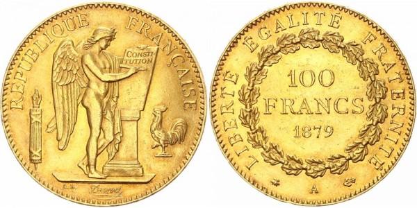 Frankreich 100 Francs 1879 A Königreich und Republik. 3. Republik, 1871-1940