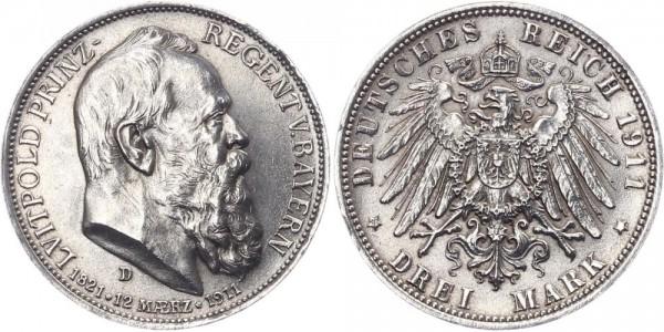 Bayern 3 Mark 1911 D Luitpold