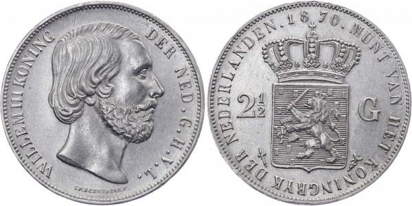 Niederlanden 2 ½ Gulden 1870 - Wilhelm III.