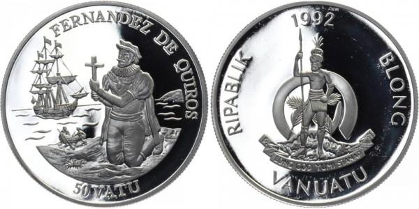 VANUATU 50 Vatu 1992 - Fernandez de Quiros
