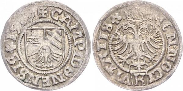 Kempten 1/2 Batzen 1519 - Maximilian I. 1493-1519