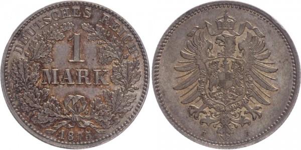 Kaiserreich 1 Mark 1875 H Kursmünze