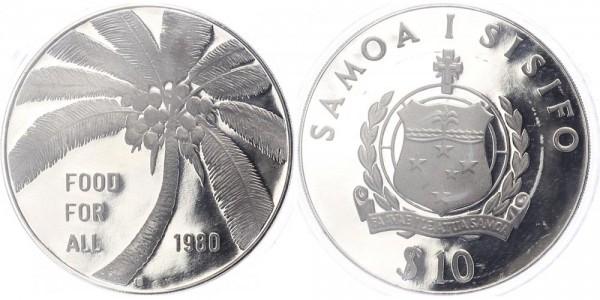 Samoa 10 Tala 1980 - Food for all